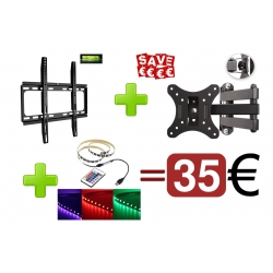 TVbeugelkopen.be - super promo 2 beugels + led strip